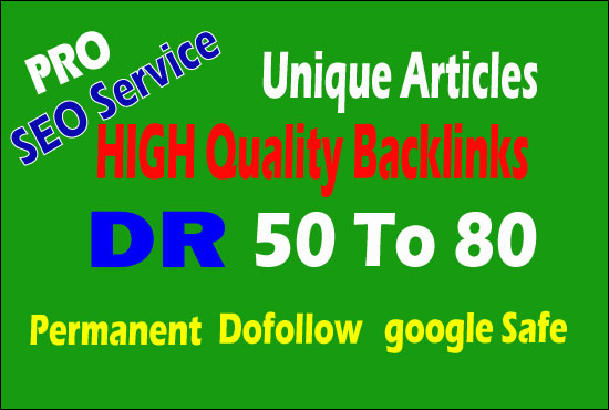 i'll increase Ahref domain rating to 50 plus with high dr backlinks guaranteed in 12 days