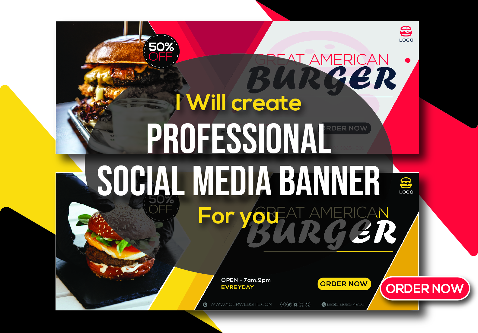 I will create professional social media banner for Facebook