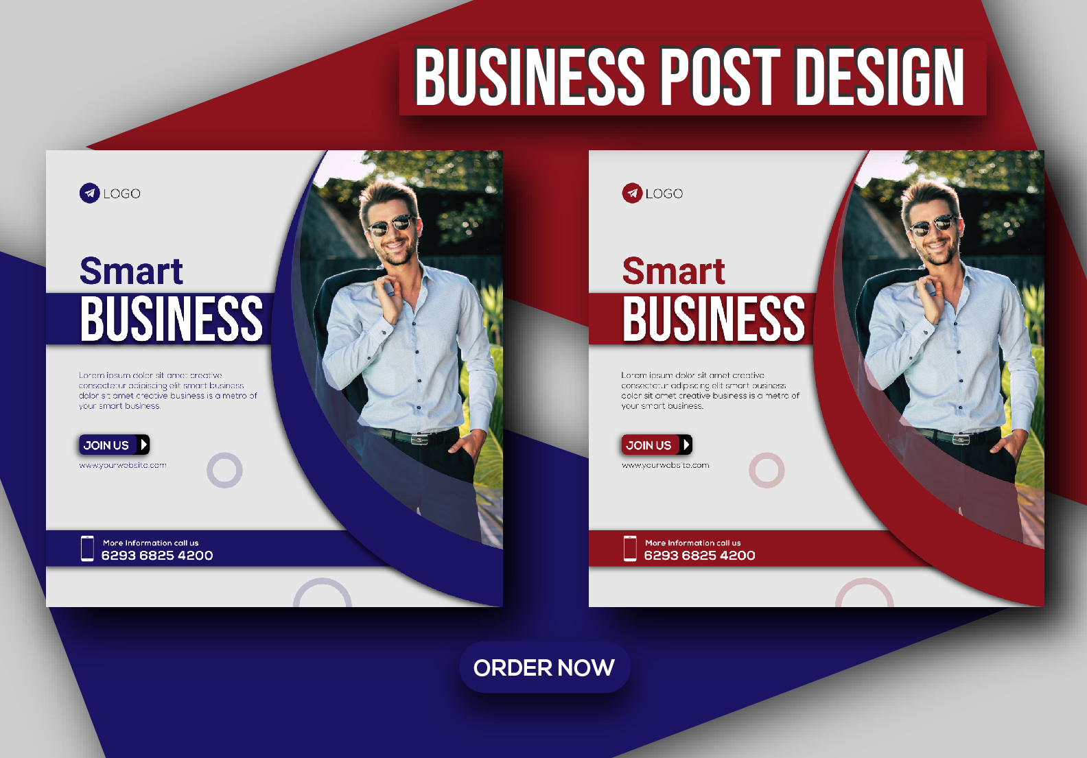 Attractive social media post & banner for business