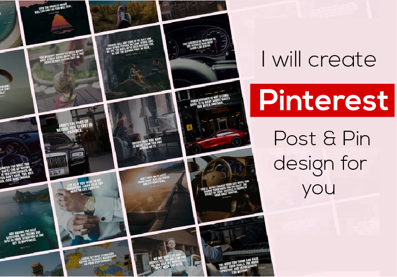 I will create Pinterest post & pin design for you