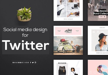 I will create attractive social media banner for Twitter