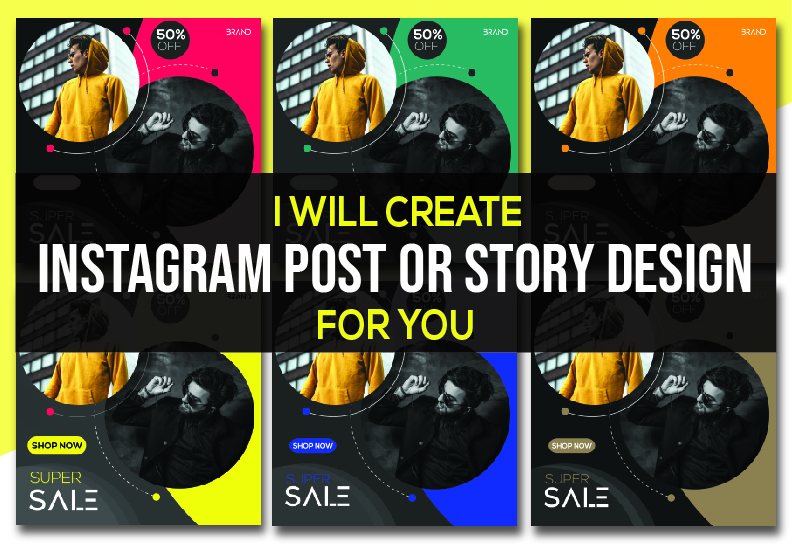 I will create attractive instagram post design for you