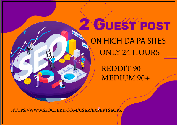 I Will Write and Publish 2 High Quality DA 90+ Guest Post ON 24 Hours