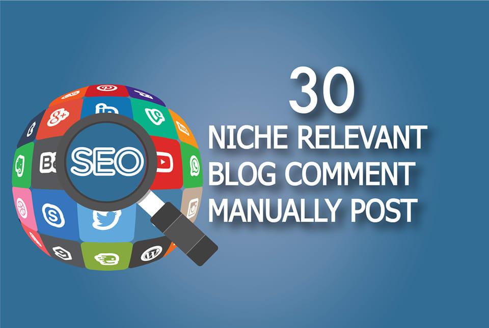 I will do 30 Niche Relevant Blog Comment Backlinks