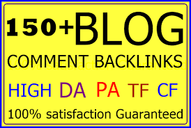 I will provide 150 niche relevant blog comments