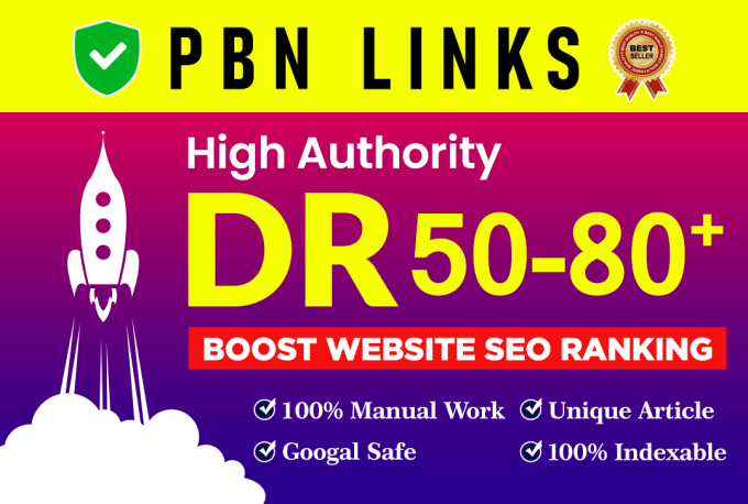 Provide you 50 Permanent DR 50+ PBN Backlinks to Increase your Domain Rating