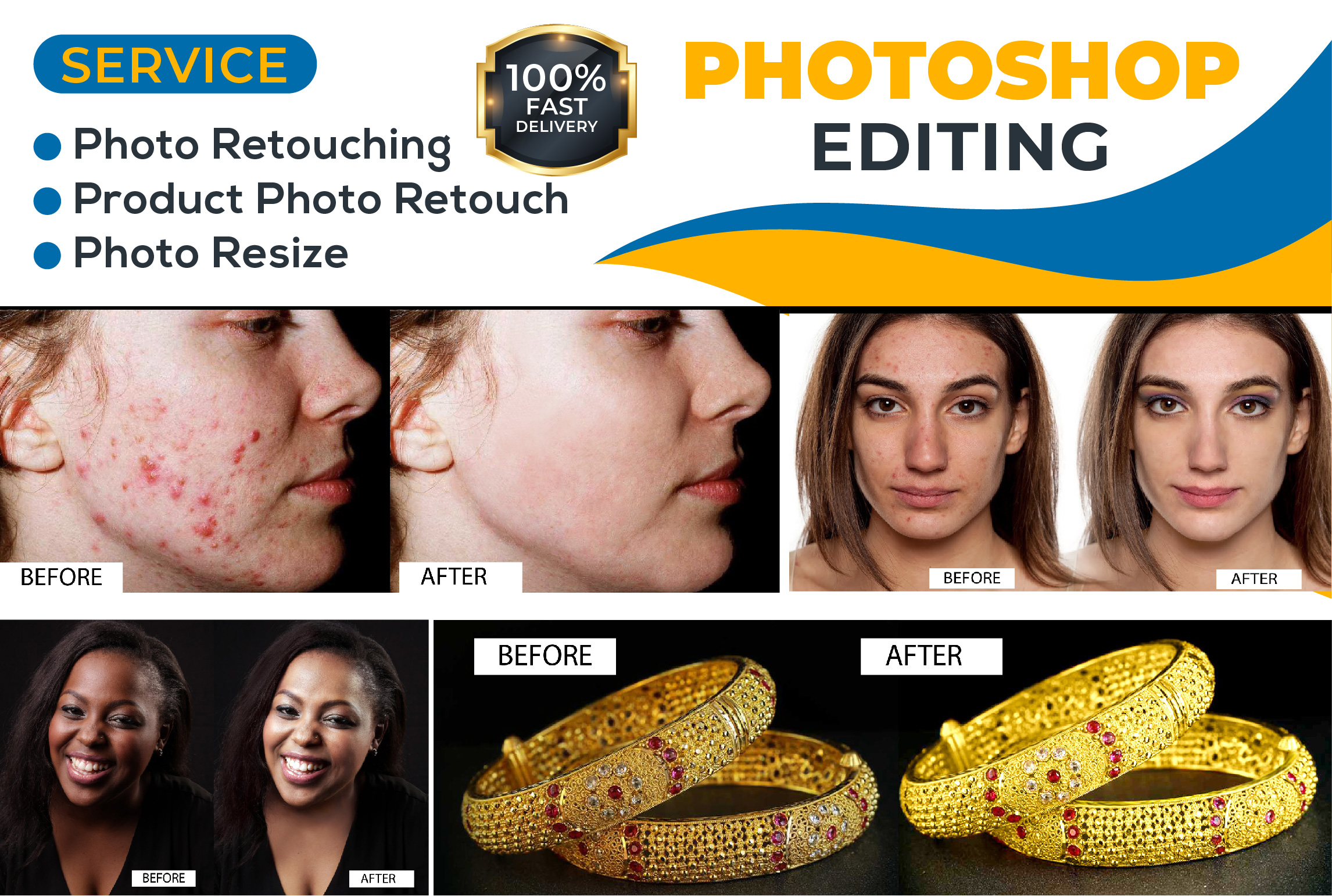 I will do the best quality photo retouching and product photo editing