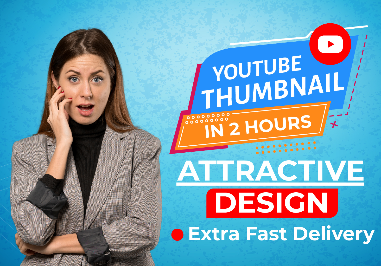 I will design premium custom youtube thumbnail in 2hrs