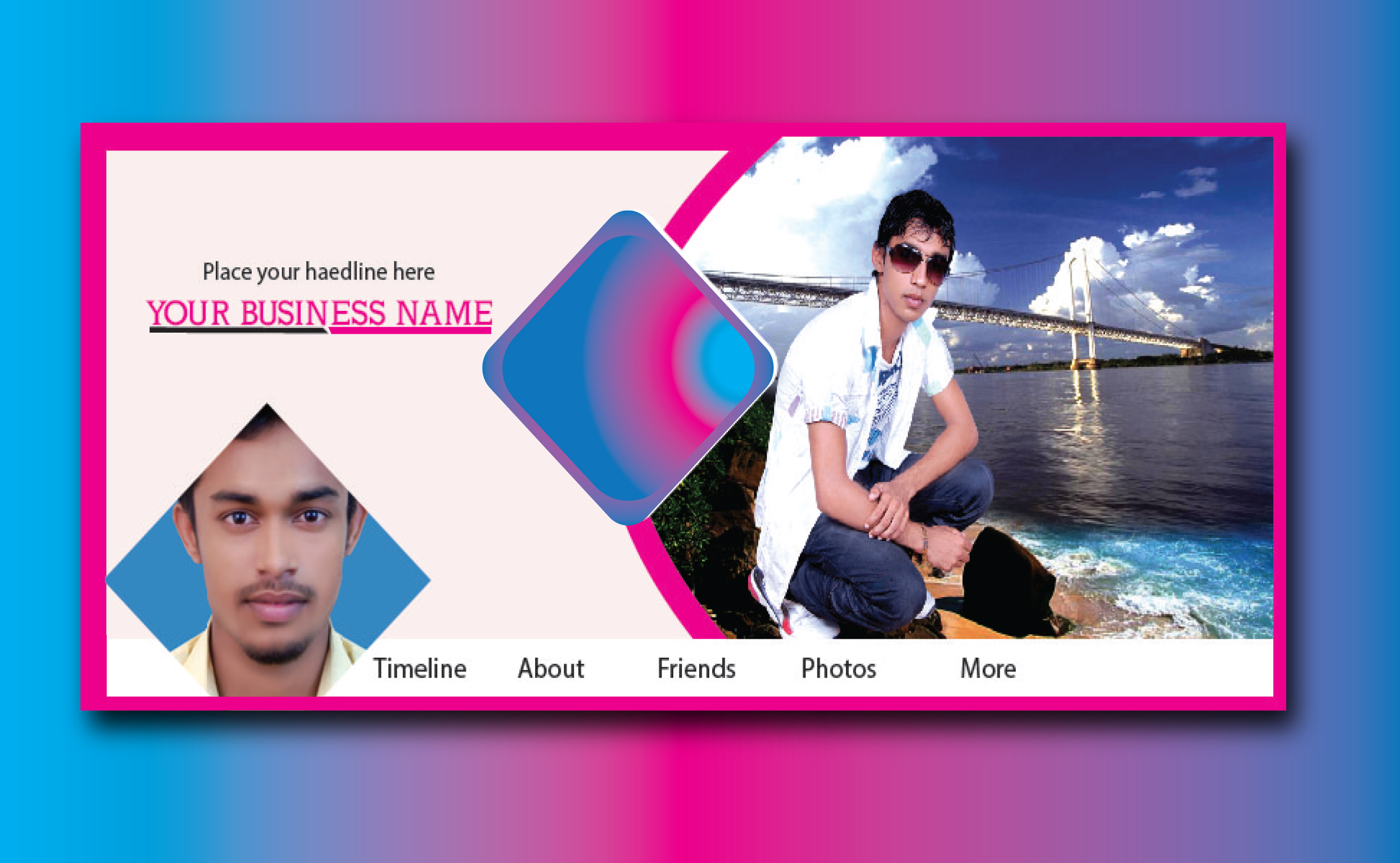 I will design professional facebook cover