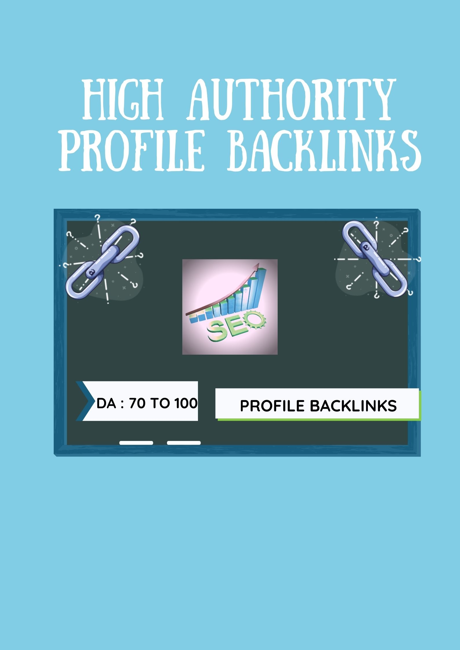 I will create 50 high authority profile backlinks.50 profile backlinks with 70+ to 100 DA