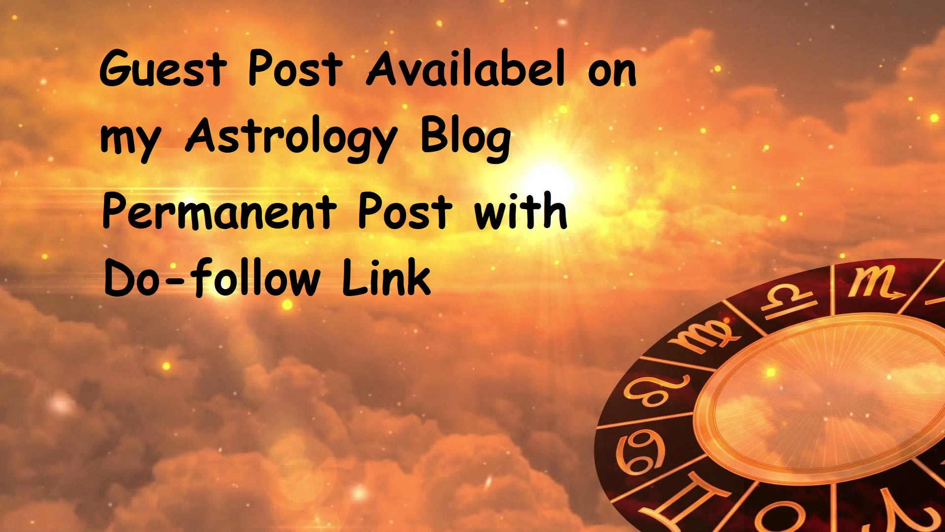 I will publish your article on astrology website with a dofollow link