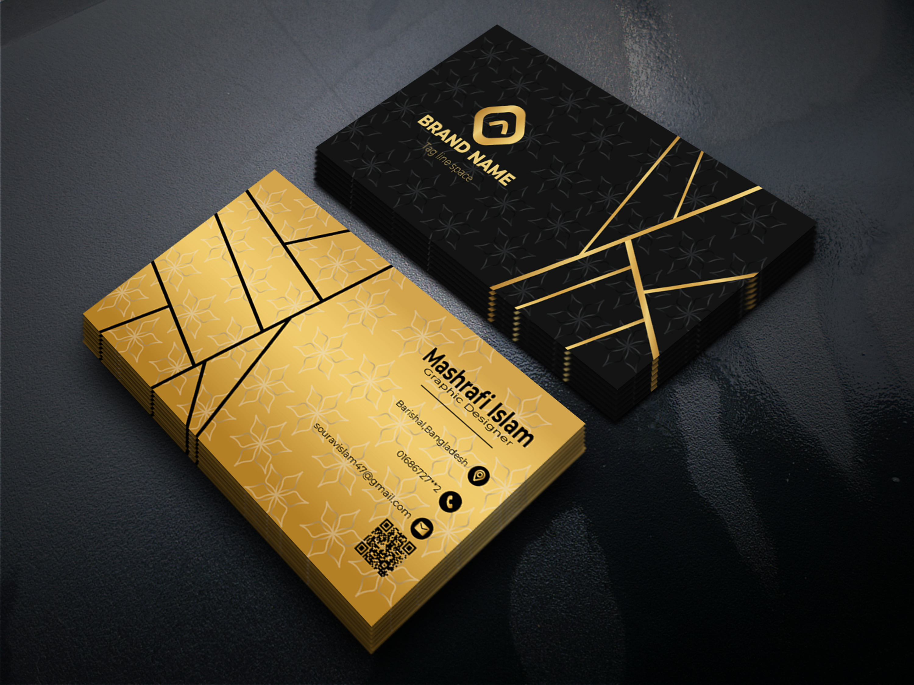 I will create a unique and luxury business card design