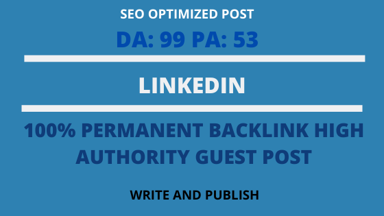 publish guest post on Linkedin with high DA 99