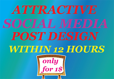 I will create attractive social media posts design