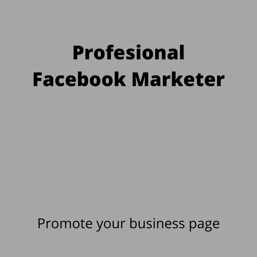 I Will optimize your facebook,  instagram, twitter business page and youtube promotion