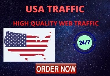I will drive niche targeted web traffic mostly form USA