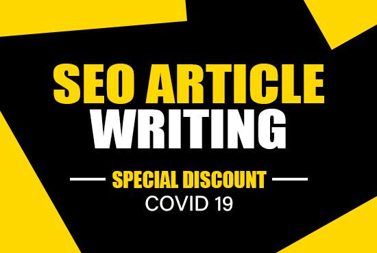 1000 words well researched SEO article on any topic