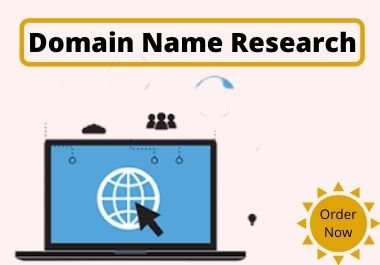 I will research attractive Domain name for your business