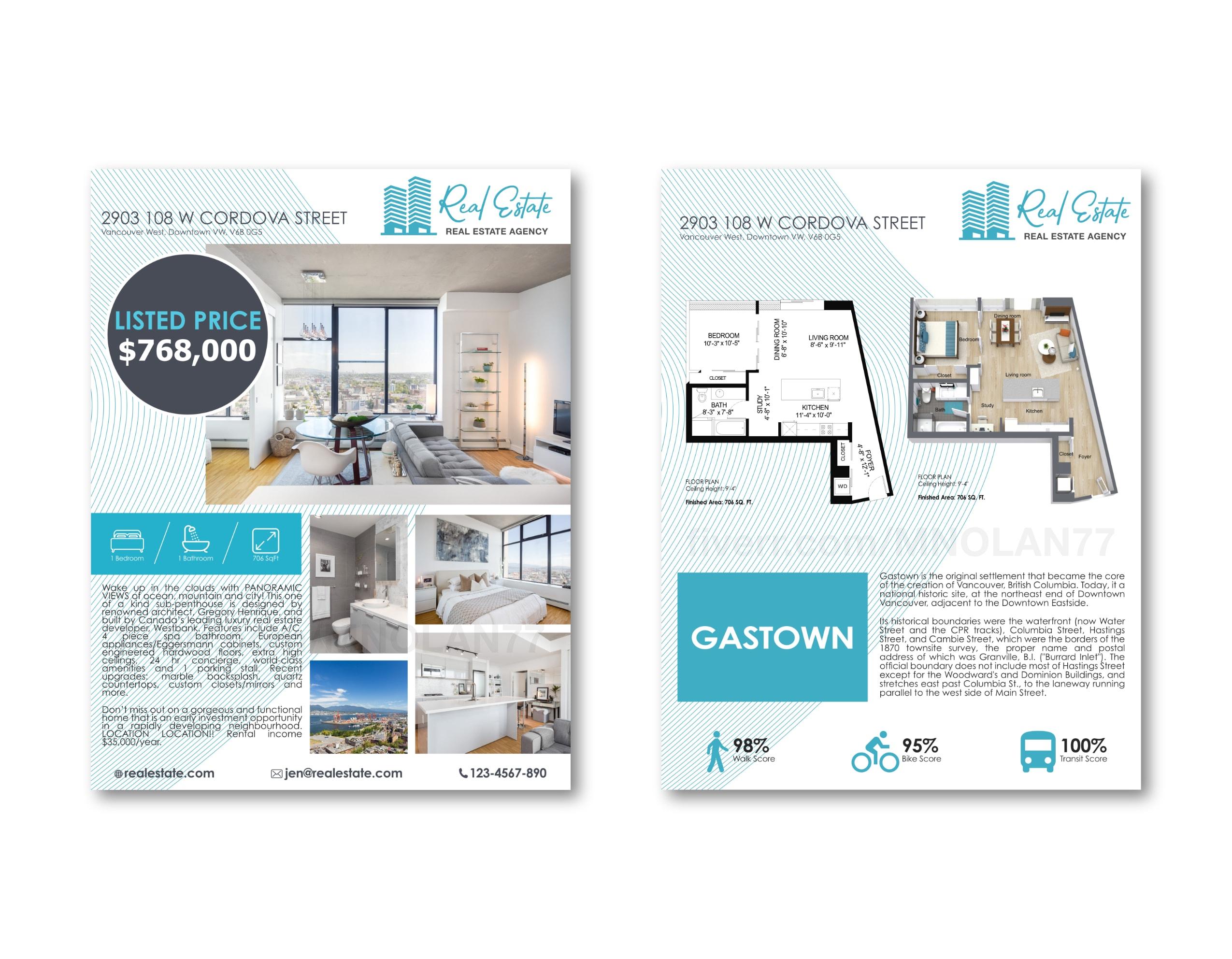 I will design real estate flyer