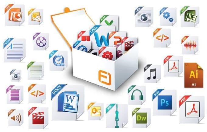 I will convert pdf, jpg, ppt, excel, doc, zip, rar, psd file format