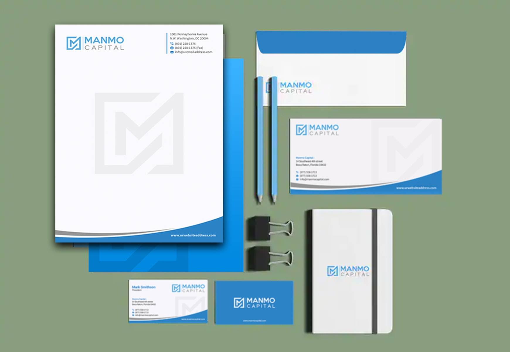 I will design business card, letterhead, envelope and stationary