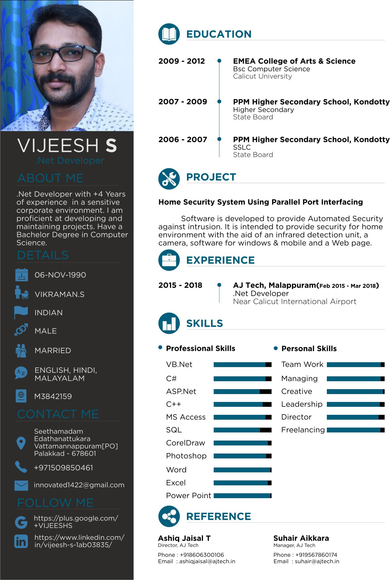 Professional RESUME with Modern design for job hunt