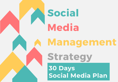 I will create a social media plan for 30 days