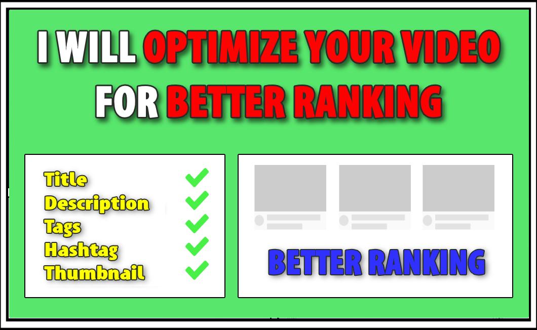 Youtube Optimize Video For Better Ranking