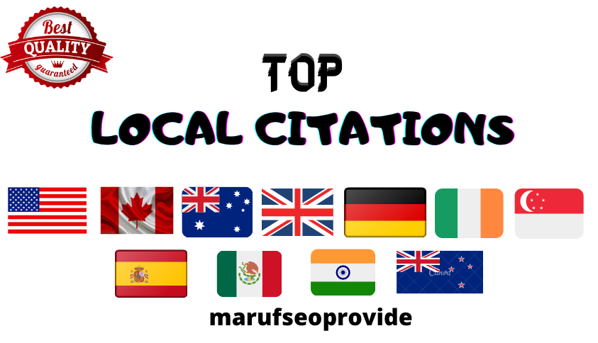 I will do top local citations for any country