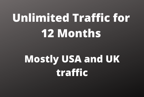 High quality Traffic for 12 Months USA, UK, Europe high quality, Low bounce rate, Targeted organic