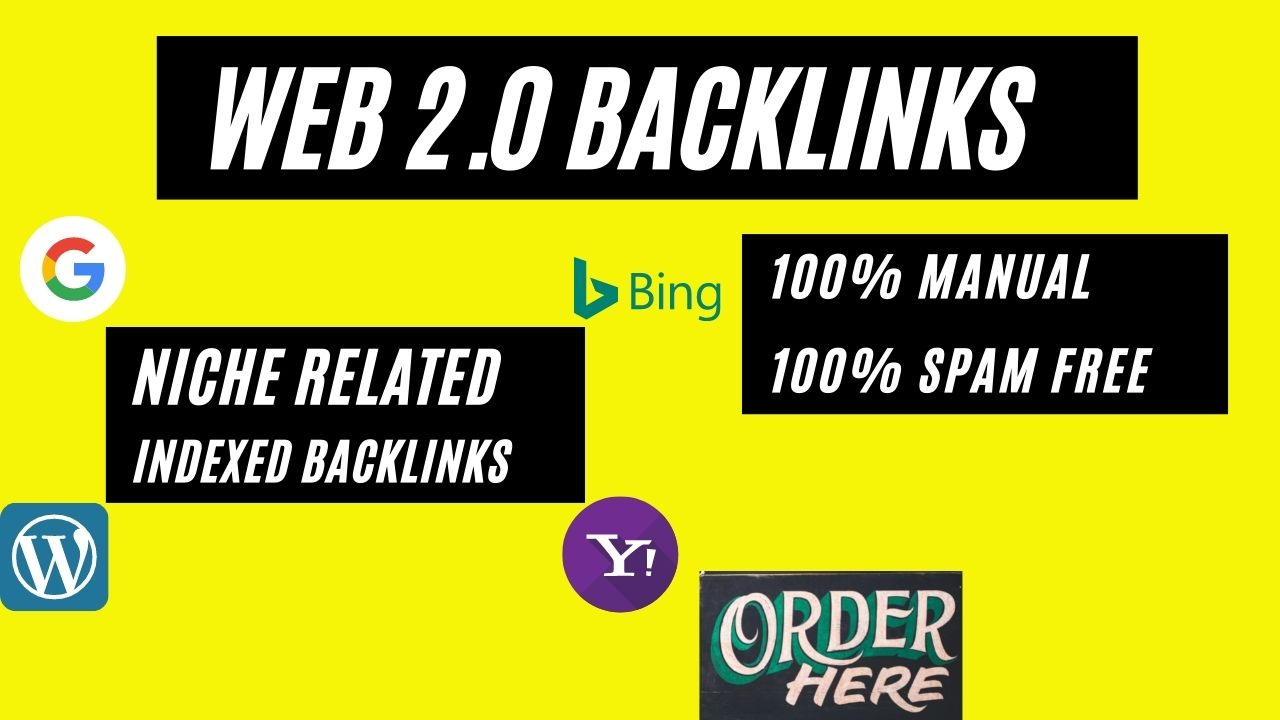 I will build a 5 high authority web 2 0 backlinks