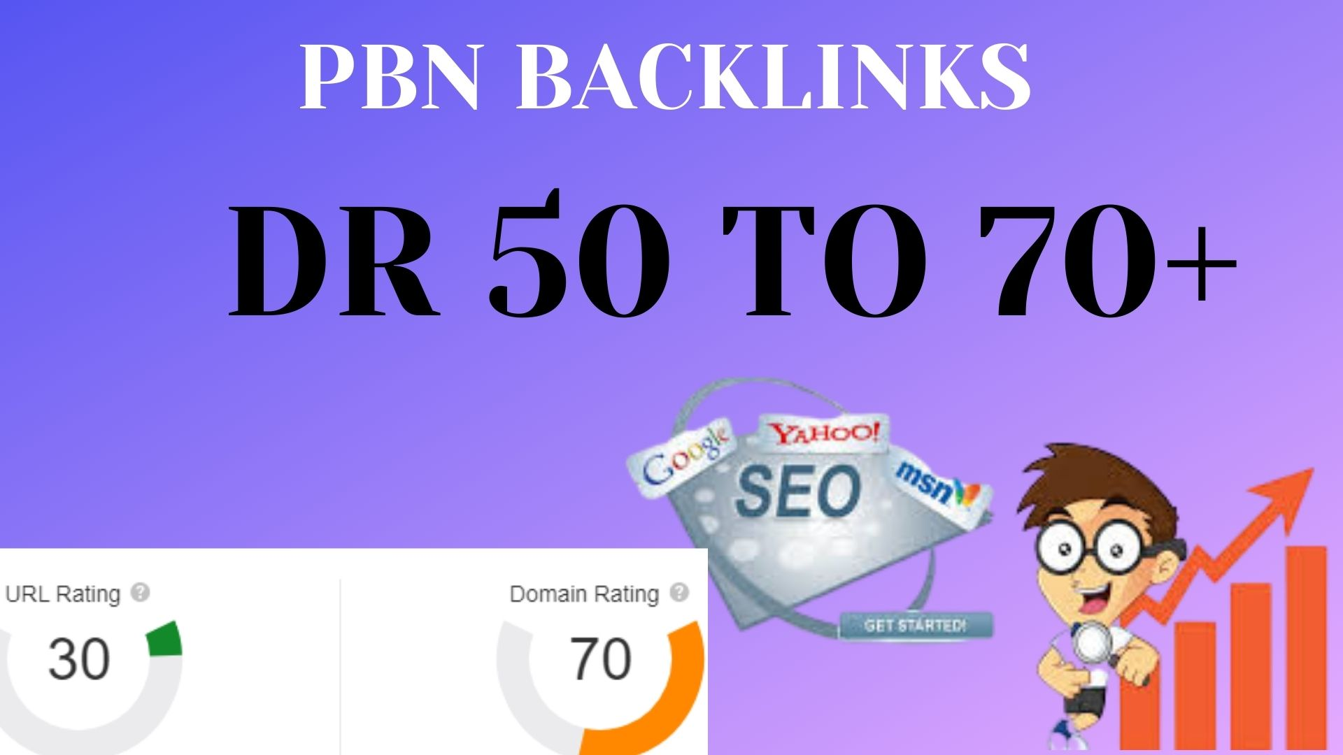 I will increase ahrefs domain rating DR 60 with seo backlinks