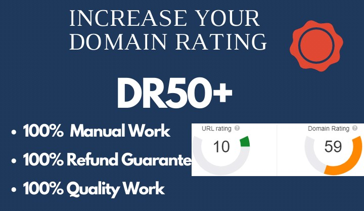 I will increase domain rating DR 50 plus