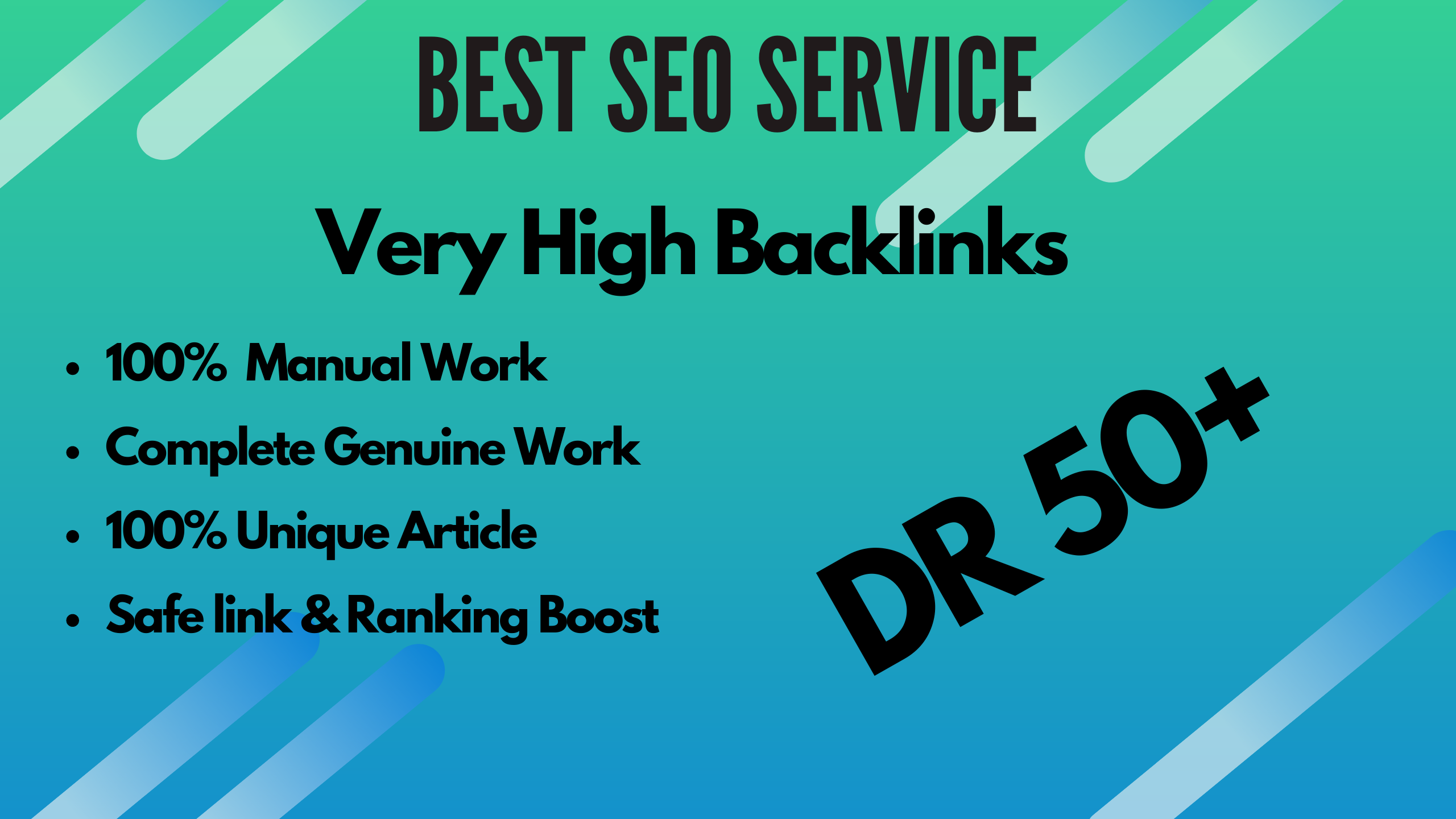 I will make 4 high quality dofollow backlinks for SEO services