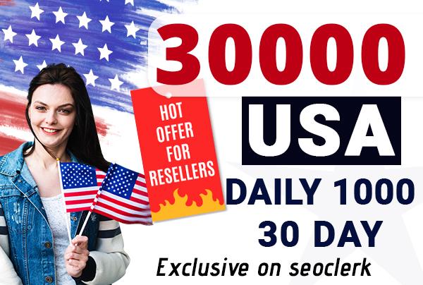 send 30,000 USA keyword related web traffic