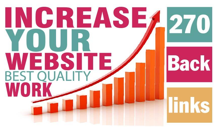 270 Backlinks,  EDU. Social Bookmark,  Wiki Backlinks skyrocket your Google Rank