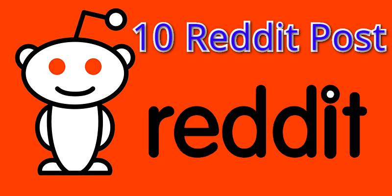 Reddit Rank Powerfull 10+ Do-Folollow Backlinks For Your sites.