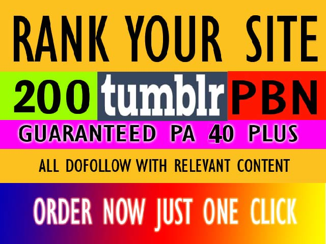 Exclusive Offer Create 200 Safe Expired Home Page Tumblr Pa 40 Plus Relevant Content PBN Backlinks