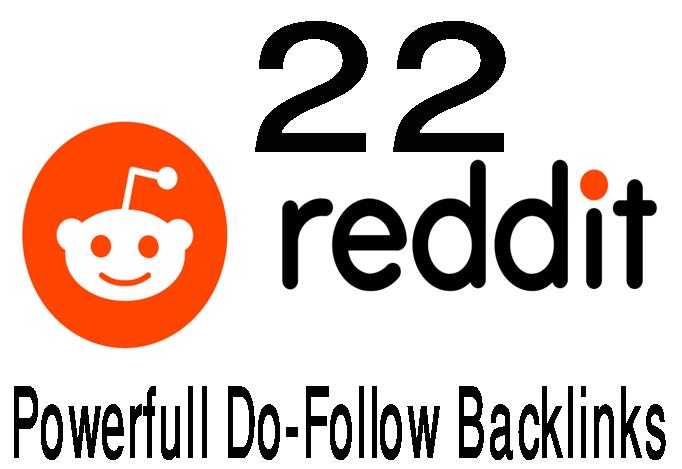 Reddit Rank Powerfull 22 Do-Folollow Backlinks For Your sites.