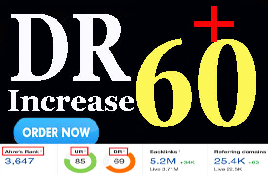 I will increase domain rating DR ahrefs 50 plus