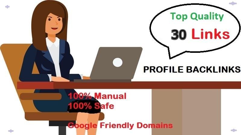 I will create 30 quality profile backlinks