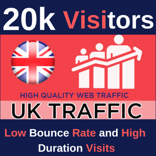 I will send 20K USA organic and targeted traffic