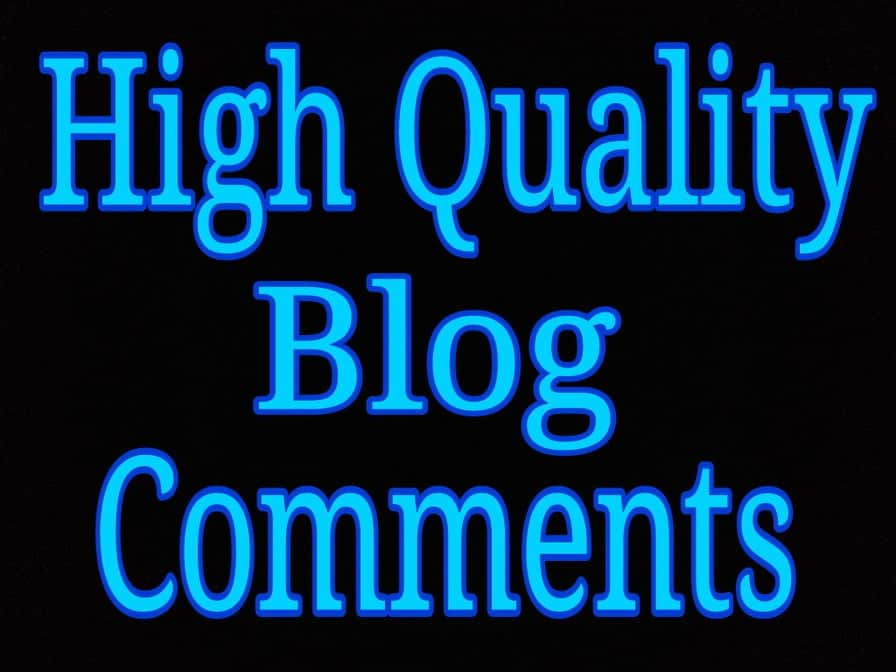 High quality blog comments via real users