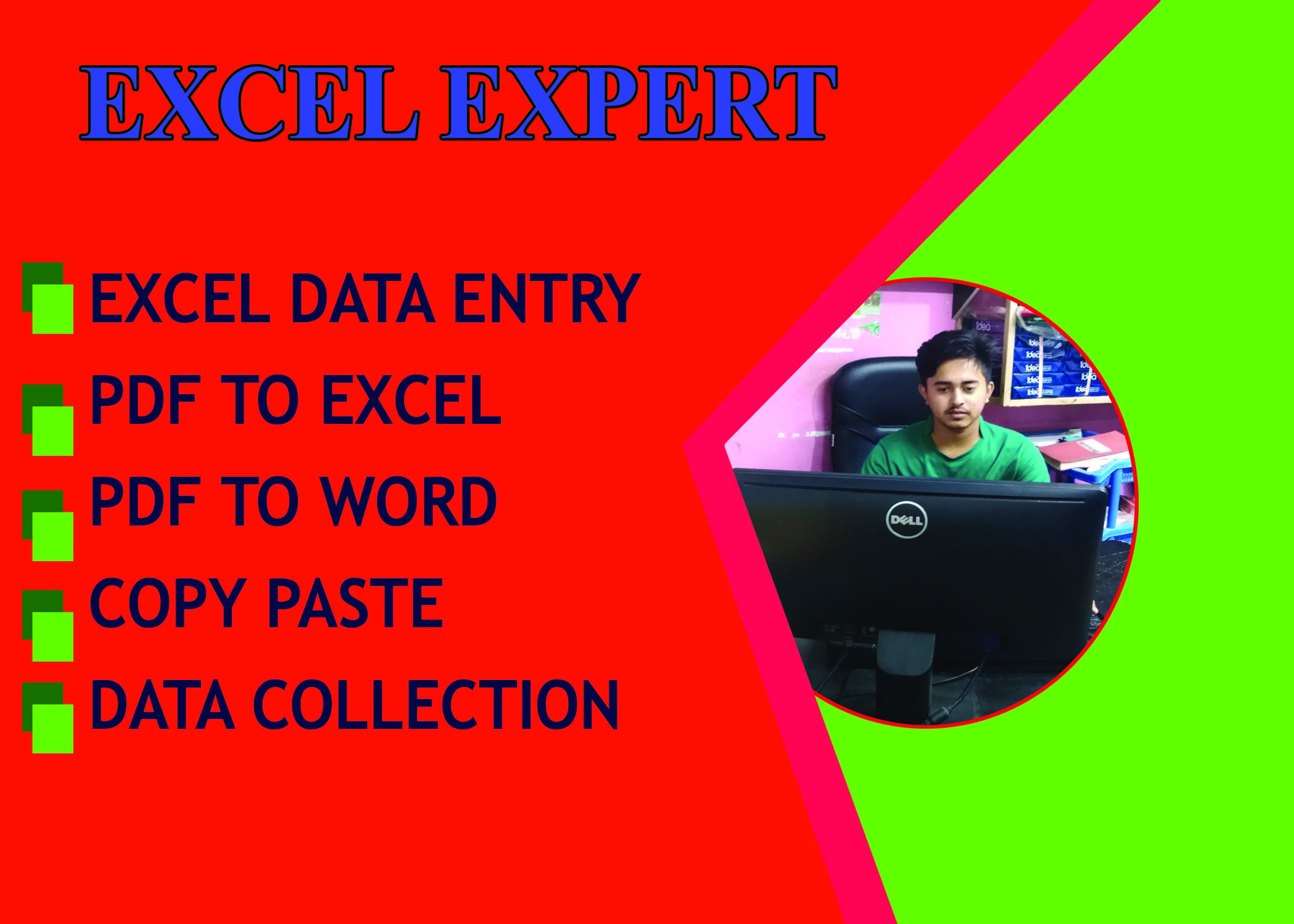I will do excel data entry,  data collection and data mining