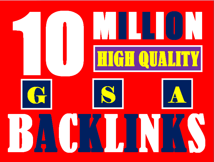 I will build 10 million gsa ser backlinks to increase ranking and index on google