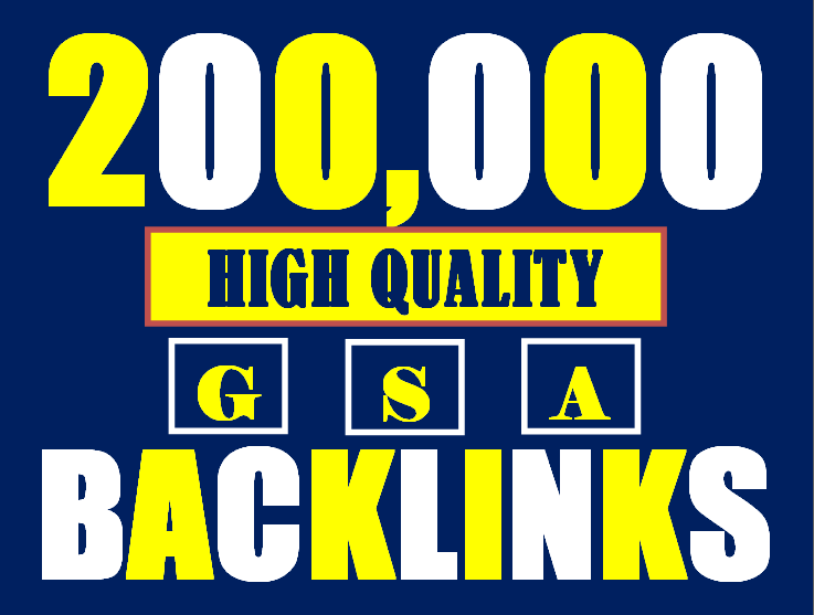 I will build 200K gsa ser backlinks to increase ranking and index on google