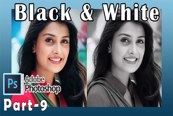 I will do black and white photo to color photoshop