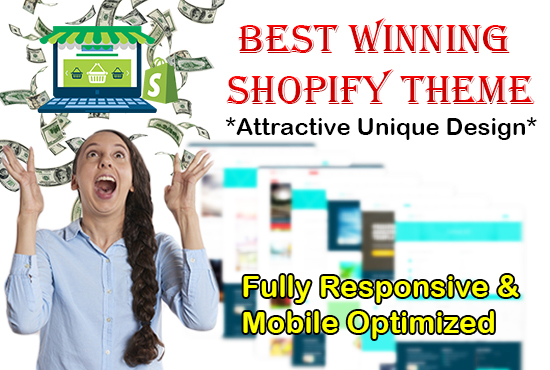 Attractive Unique Design Winning Shopify Theme