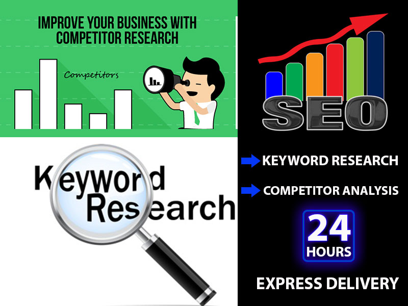 Top Keyword Research for ranking your Website and Competitor Analysis with fast delivery