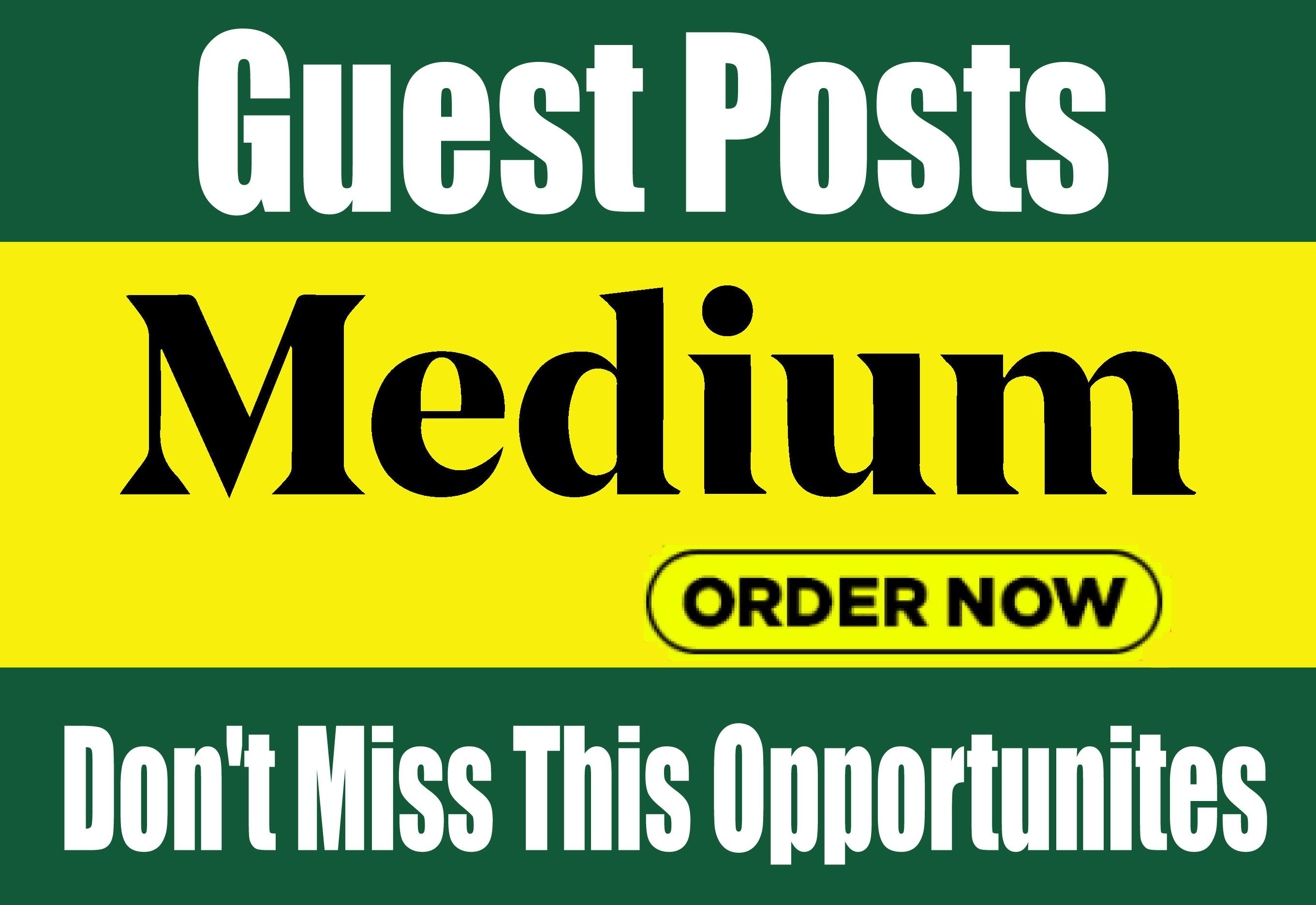 Write & publish Guest Post On Medium DA 90+ PA 80